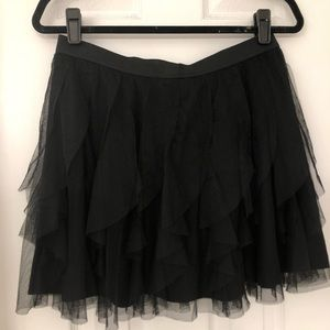 LC Lauren Conrad Black Tulle Skirt- Size Medium